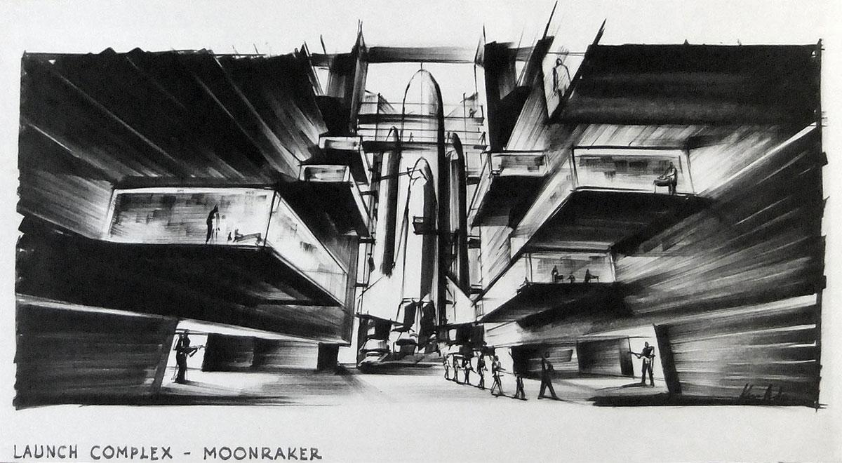 Concepttekening voor Moonraker