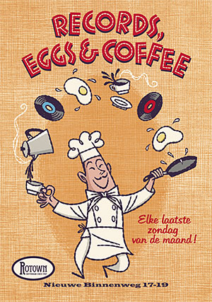 records-eggs-coffee